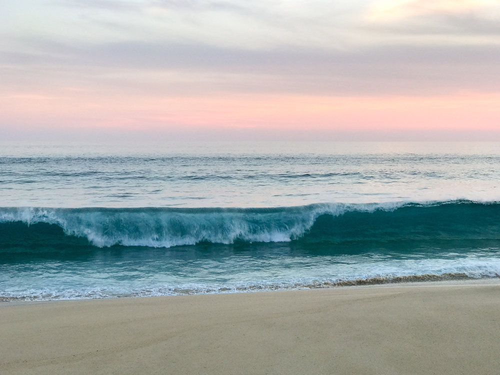 Pacific Ocean wave at sunset, Cabo, Mexico — Cotton Cashmere Cat Hair