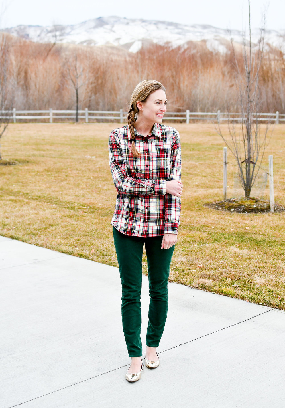 Holiday outfit to wear to work — Cotton Cashmere Cat Hair