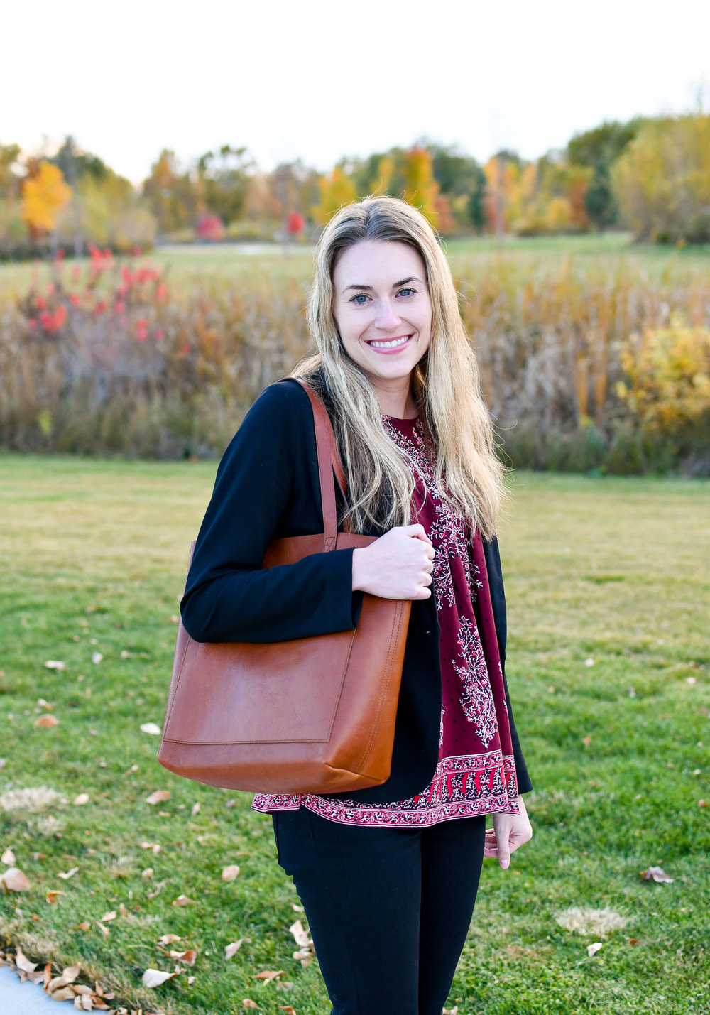 """Madewell """"The Medium Transport Tote"""" — Cotton Cashmere Cat Hair"""
