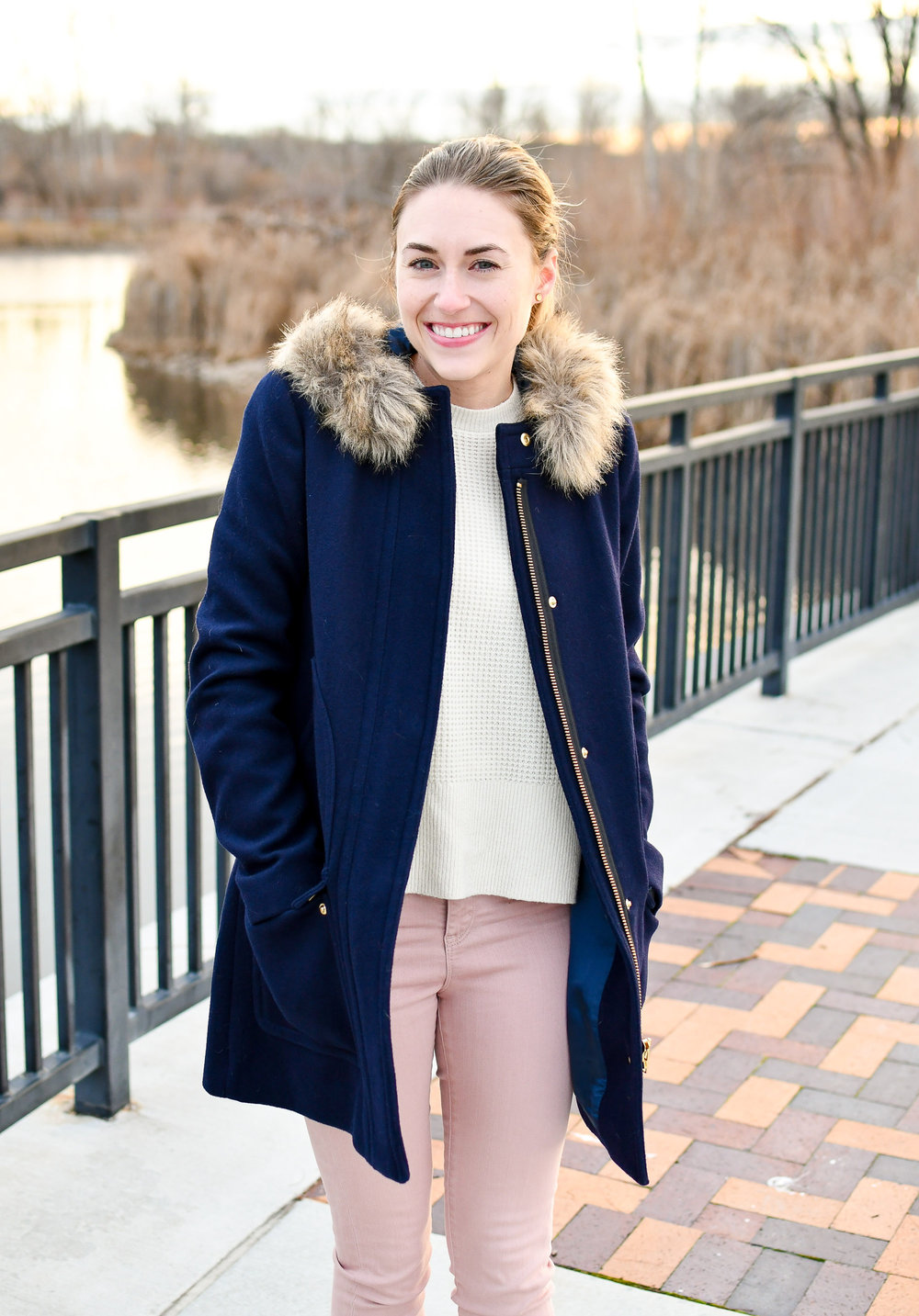 J.Crew Factory Vail parka in navy — Cotton Cashmere Cat Hair