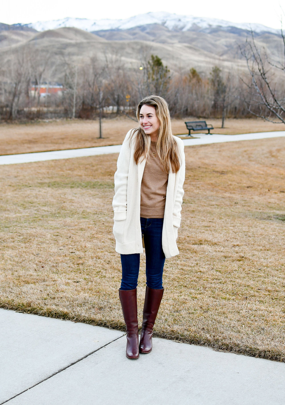 How to wear a cardigan as a coat in the winter — Cotton Cashmere Cat Hair