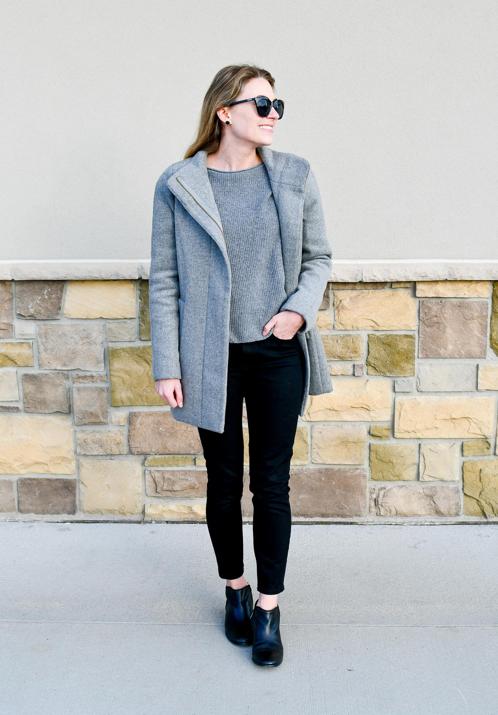 Everlane midrise skinny jeans in black — Cotton Cashmere Cat Hair