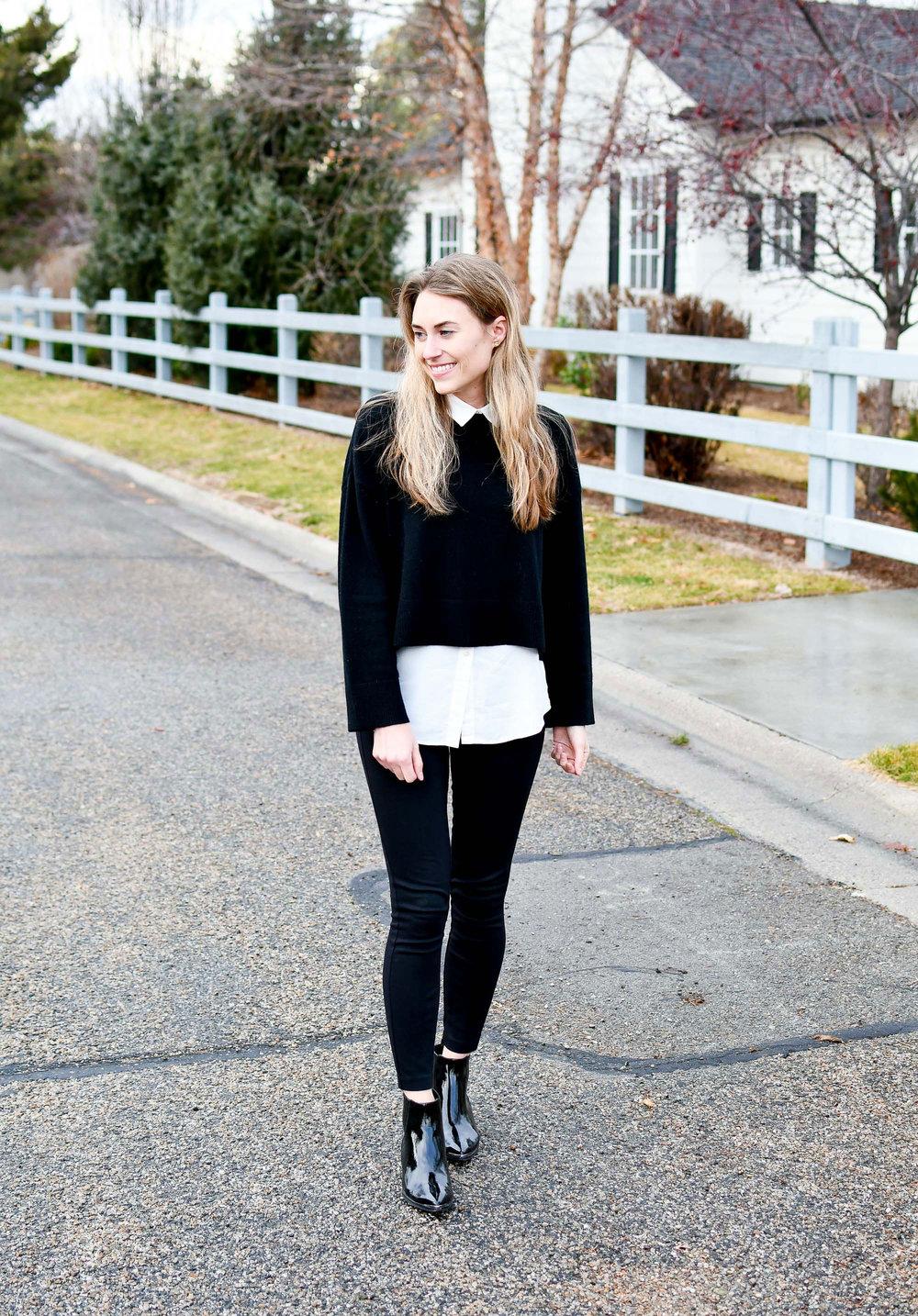 bf0dcc07296 J.Crew Pixie pants winter outfit — Cotton Cashmere Cat Hair