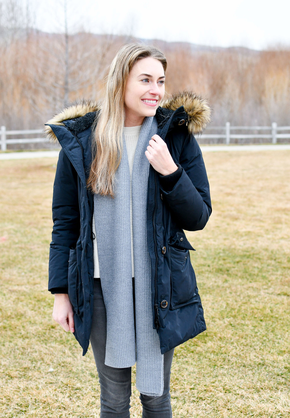 Everlane chunky wool scarf — Cotton Cashmere Cat Hair