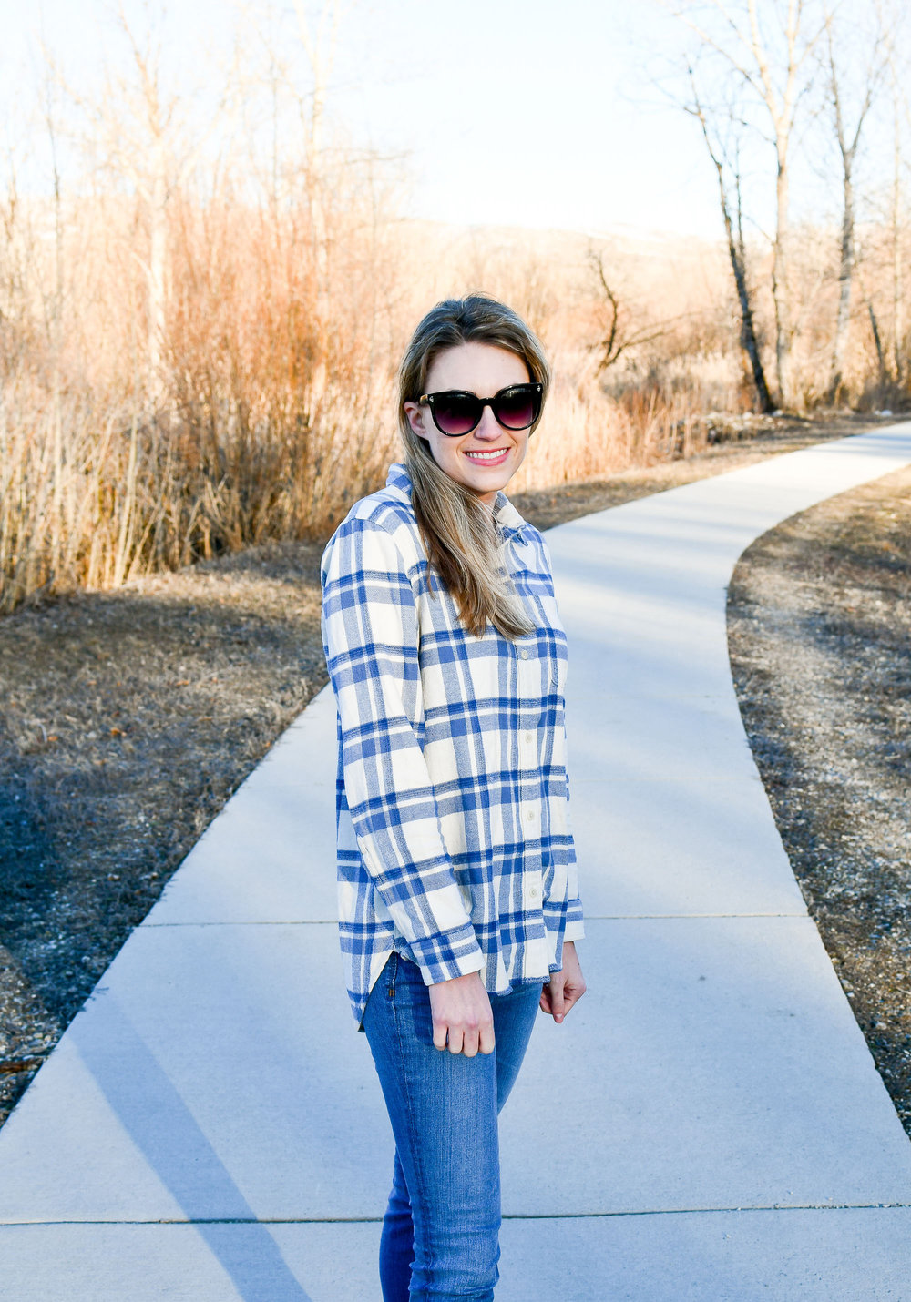 Madewell flannel shirt in Akiva plaid — Cotton Cashmere Cat Hair