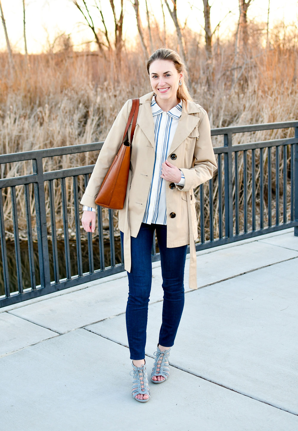 Spring work outfit with Madewell Transport tote — Cotton Cashmere Cat Hair