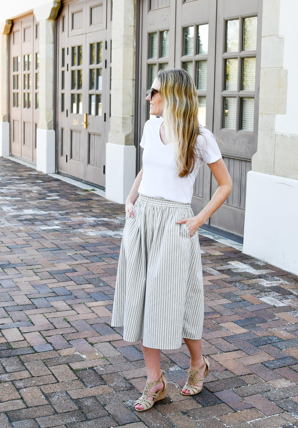 Amour Vert Greta midi skirt outfit — Cotton Cashmere Cat Hair