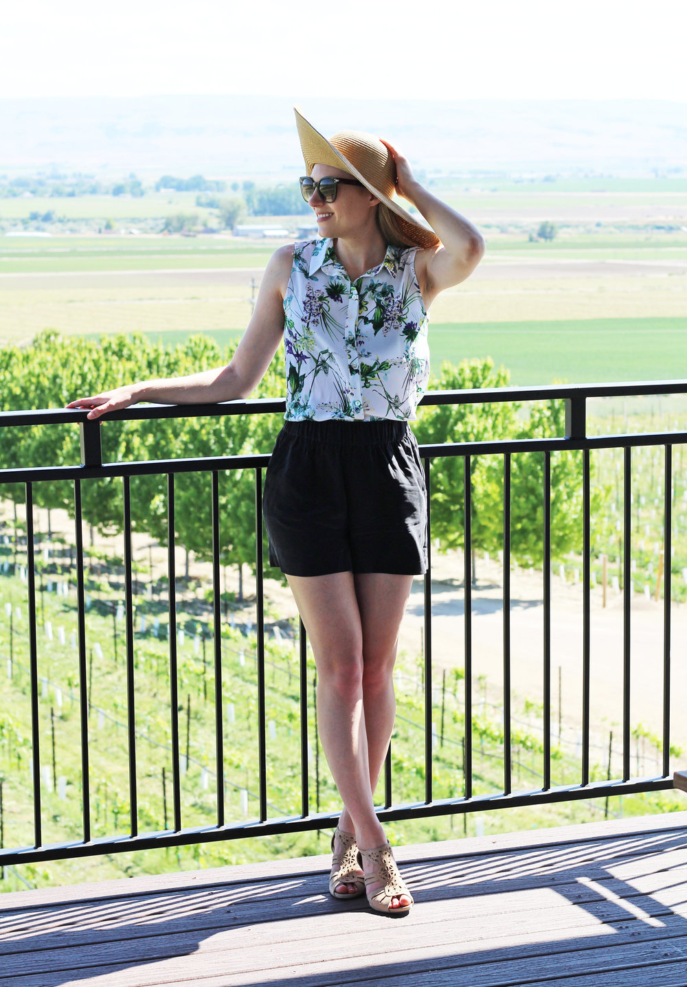 Sunnyslope Wine Trail with Earthies Morolo sandals — Cotton Cashmere Cat Hair