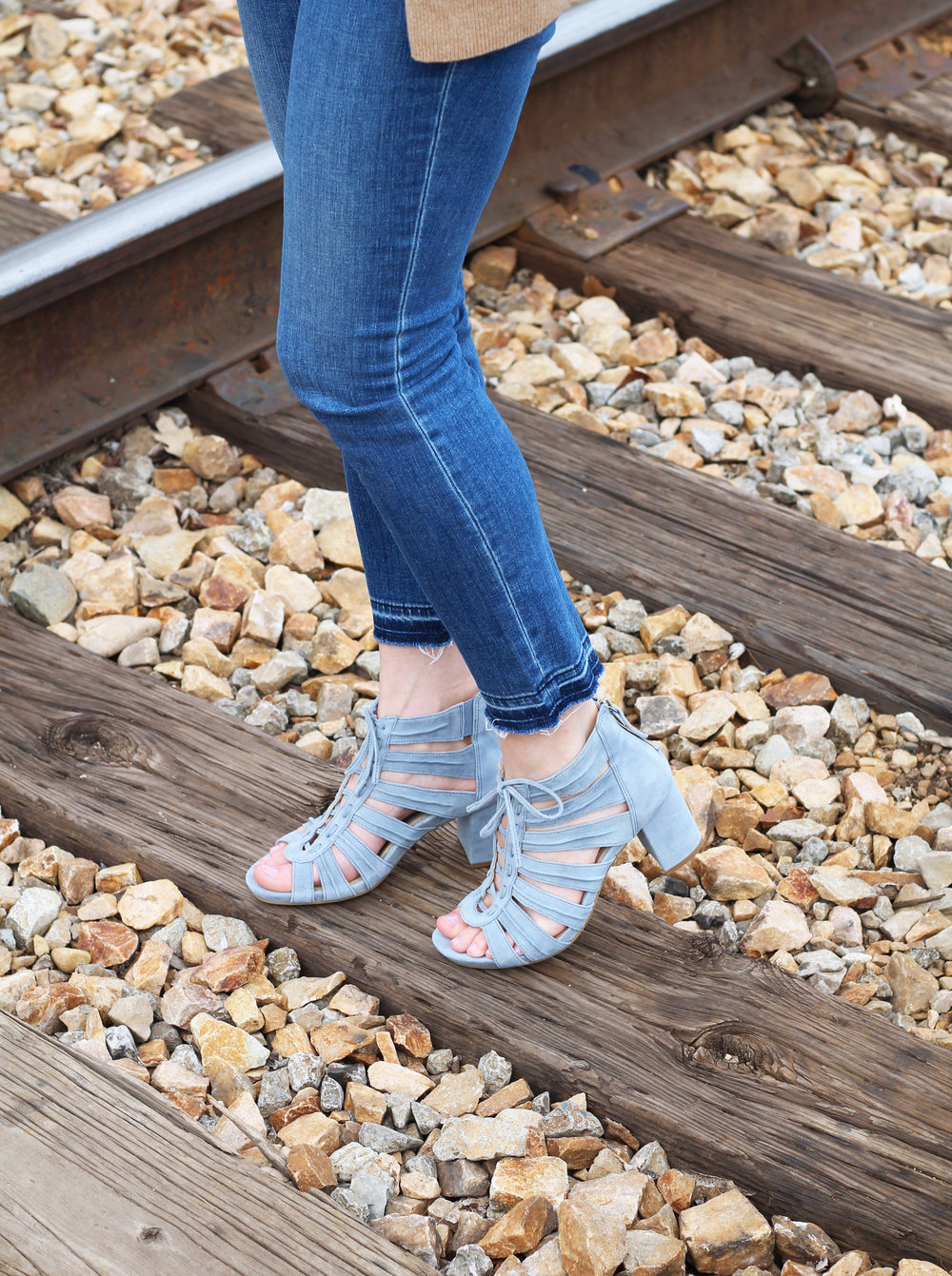 Earthies Saletto sandals in dusty blue — Cotton Cashmere Cat Hair