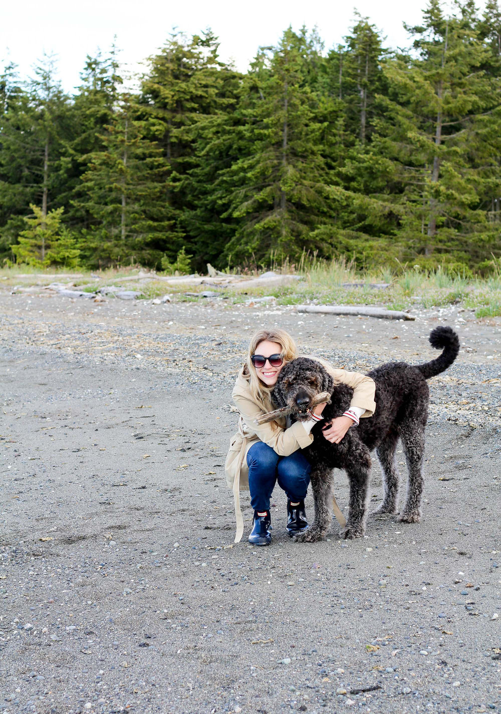 Marley and me in Sequim, Washington — Cotton Cashmere Cat Hair