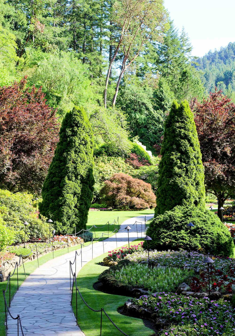 Sunken Gardens at Butchart Gardens, British Columbia — Cotton Cashmere Cat Hair
