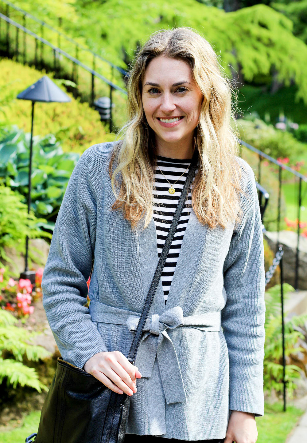 Grana pima lindis wool wrap cardigan outfit — Cotton Cashmere Cat Hair