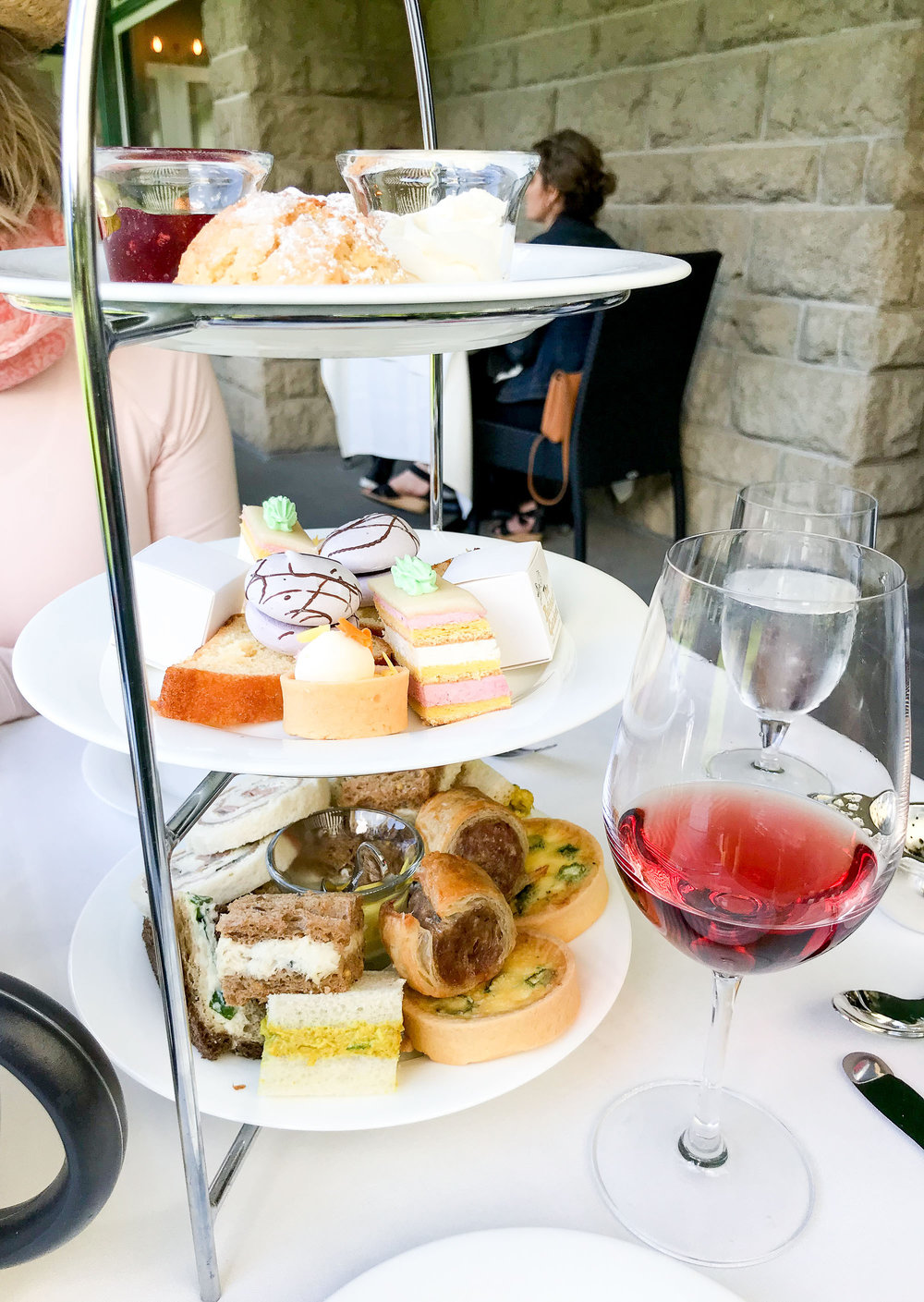 Afternoon tea at The Butchart Gardens, British Columbia — Cotton Cashmere Cat Hair