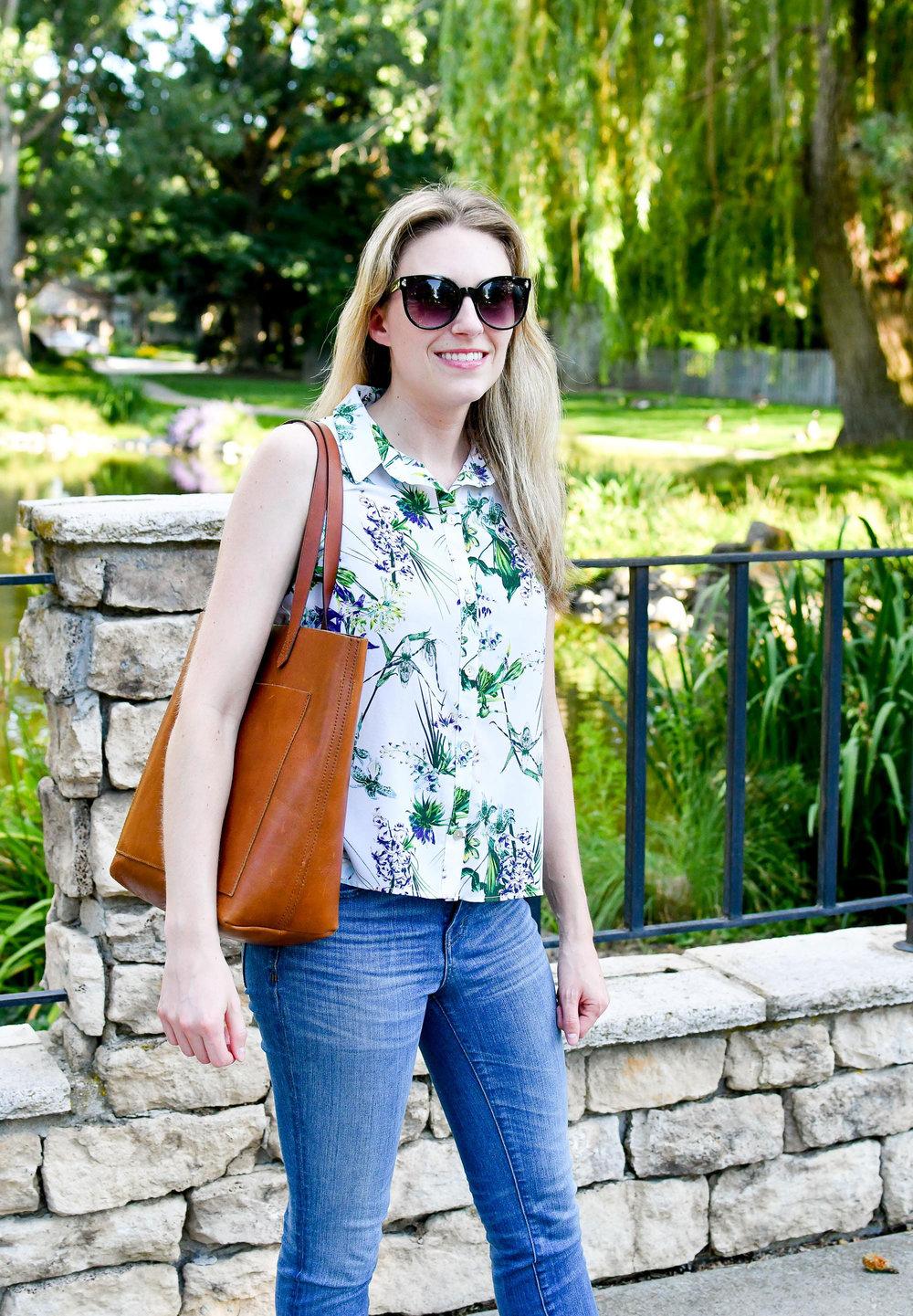 Amour Vert Riley tropical print shirt — Cotton Cashmere Cat Hair