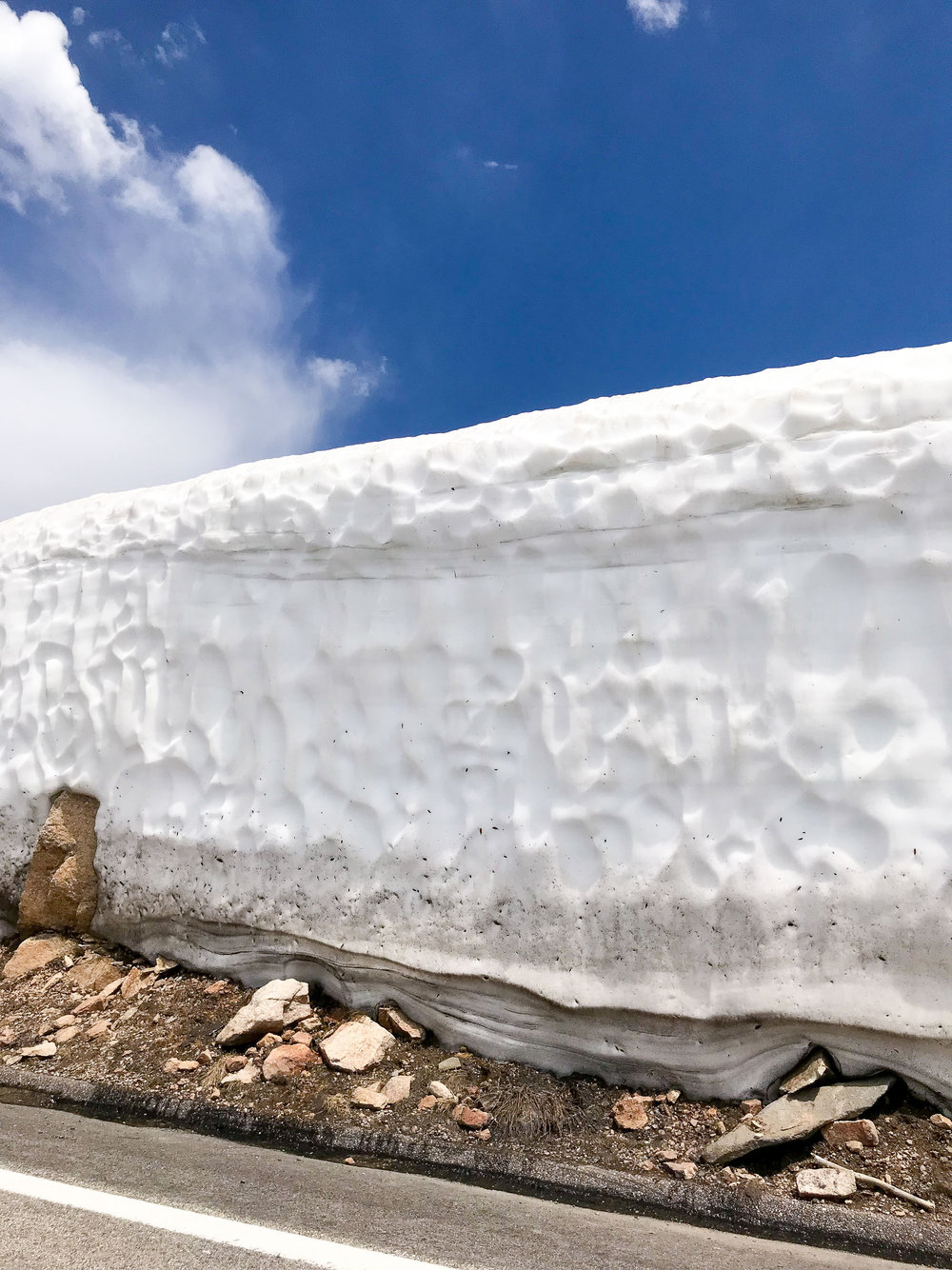 Snow along Beartooth Highway in July — via Cotton Cashmere Cat Hair