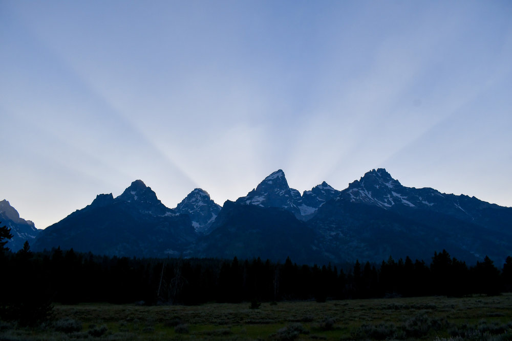 Grand Tetons at sunset — via Cotton Cashmere Cat Hair