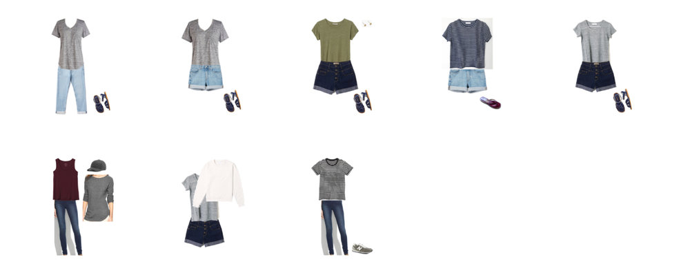 10-day road trip outfits — Cotton Cashmere Cat Hair