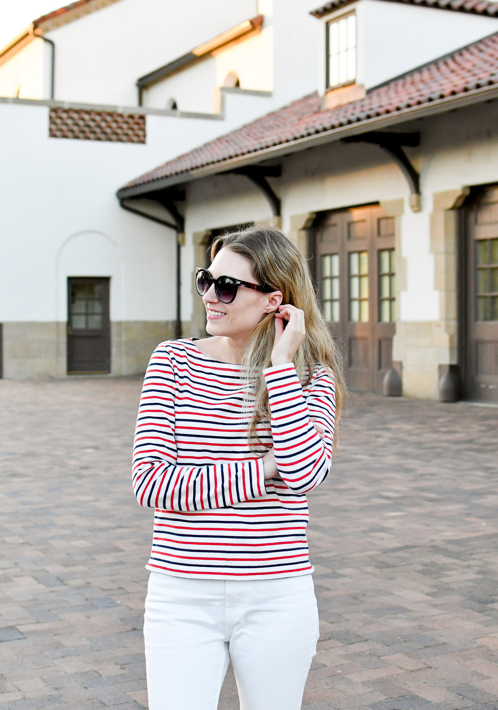 Nautical stripes fall outfit — Cotton Cashmere Cat Hair