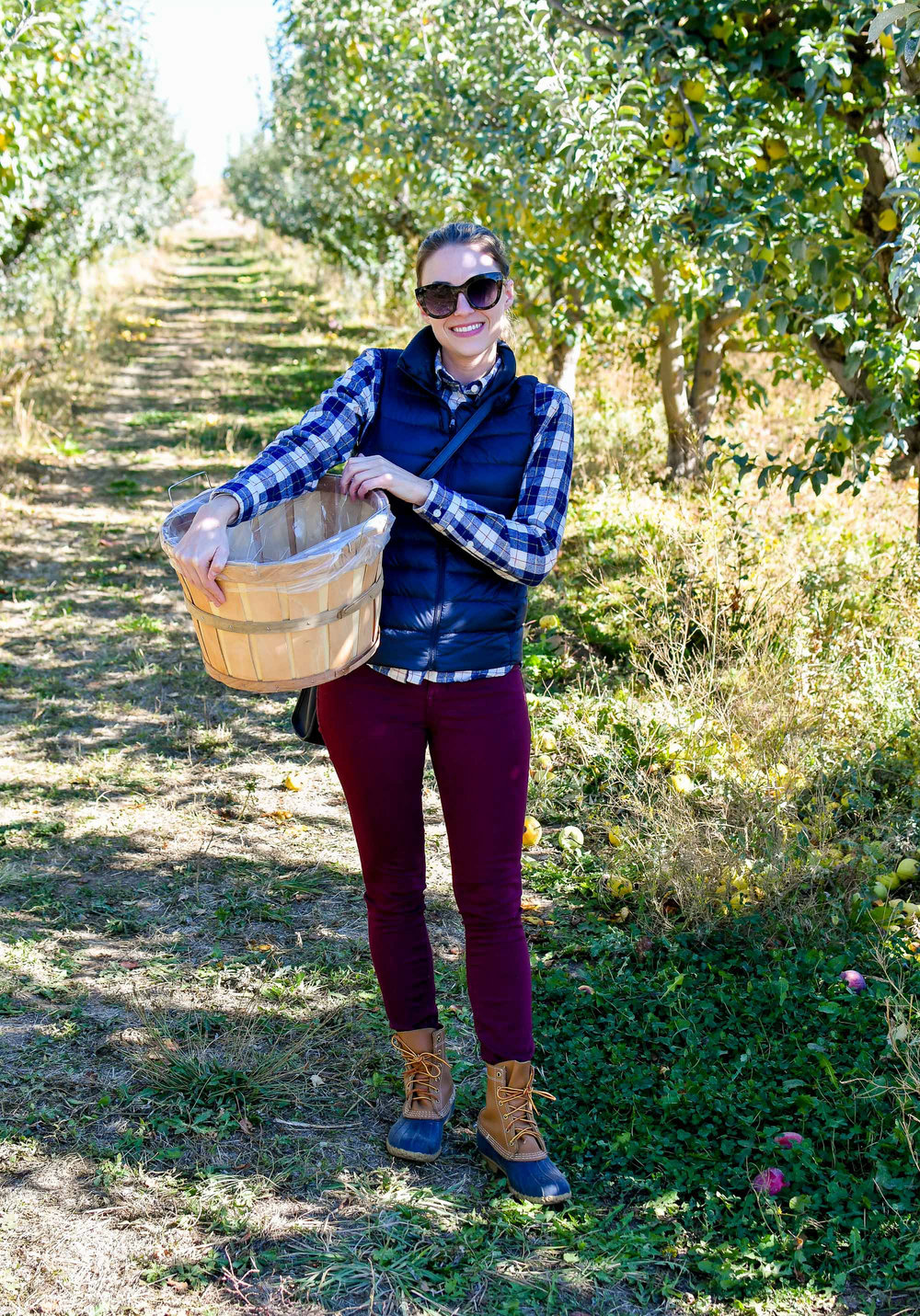 Fall apple picking outfit — Cotton Cashmere Cat Hair