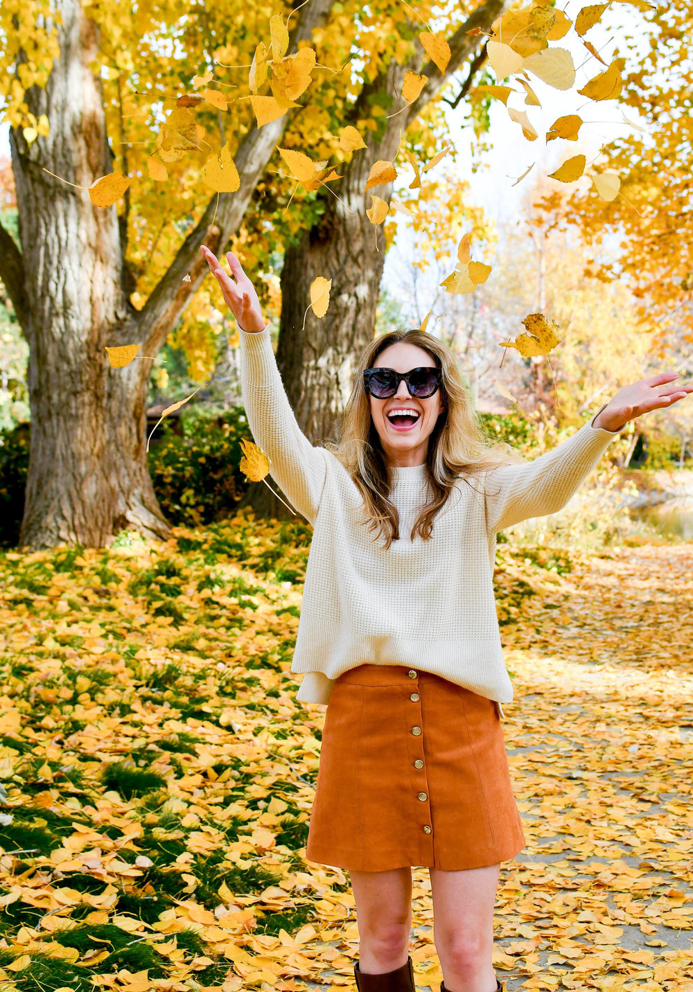 Cozy sweater fall outfit — Cotton Cashmere Cat Hair