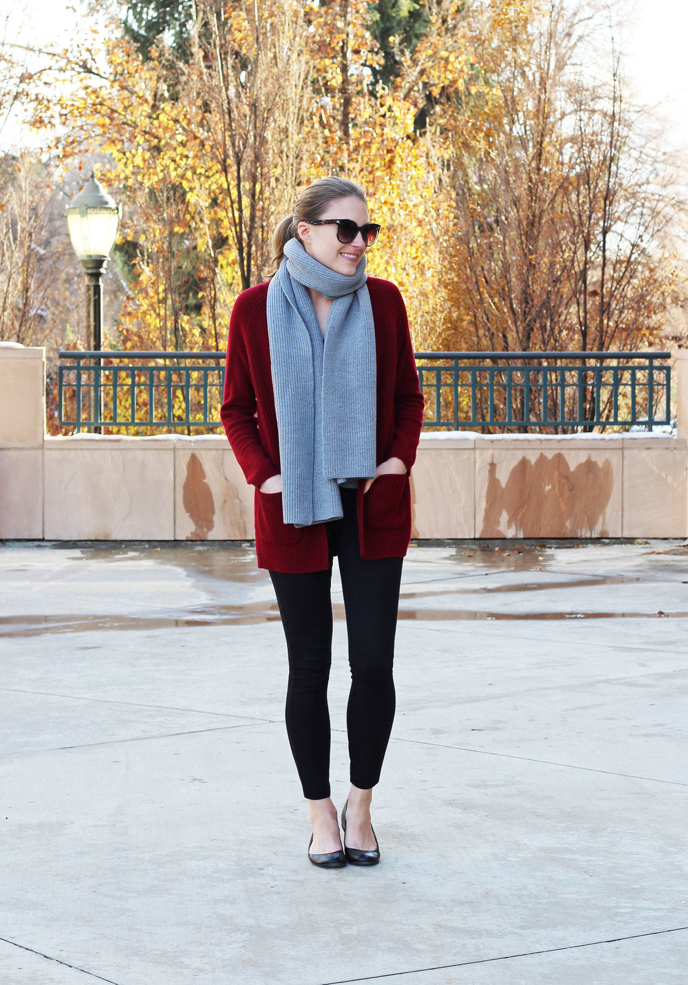 Cozy holiday outfit for work — Cotton Cashmere Cat Hair