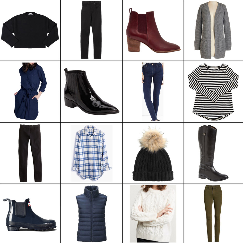 January Style Sudoku: 16 items, 14+ outfits — Cotton Cashmere Cat Hair