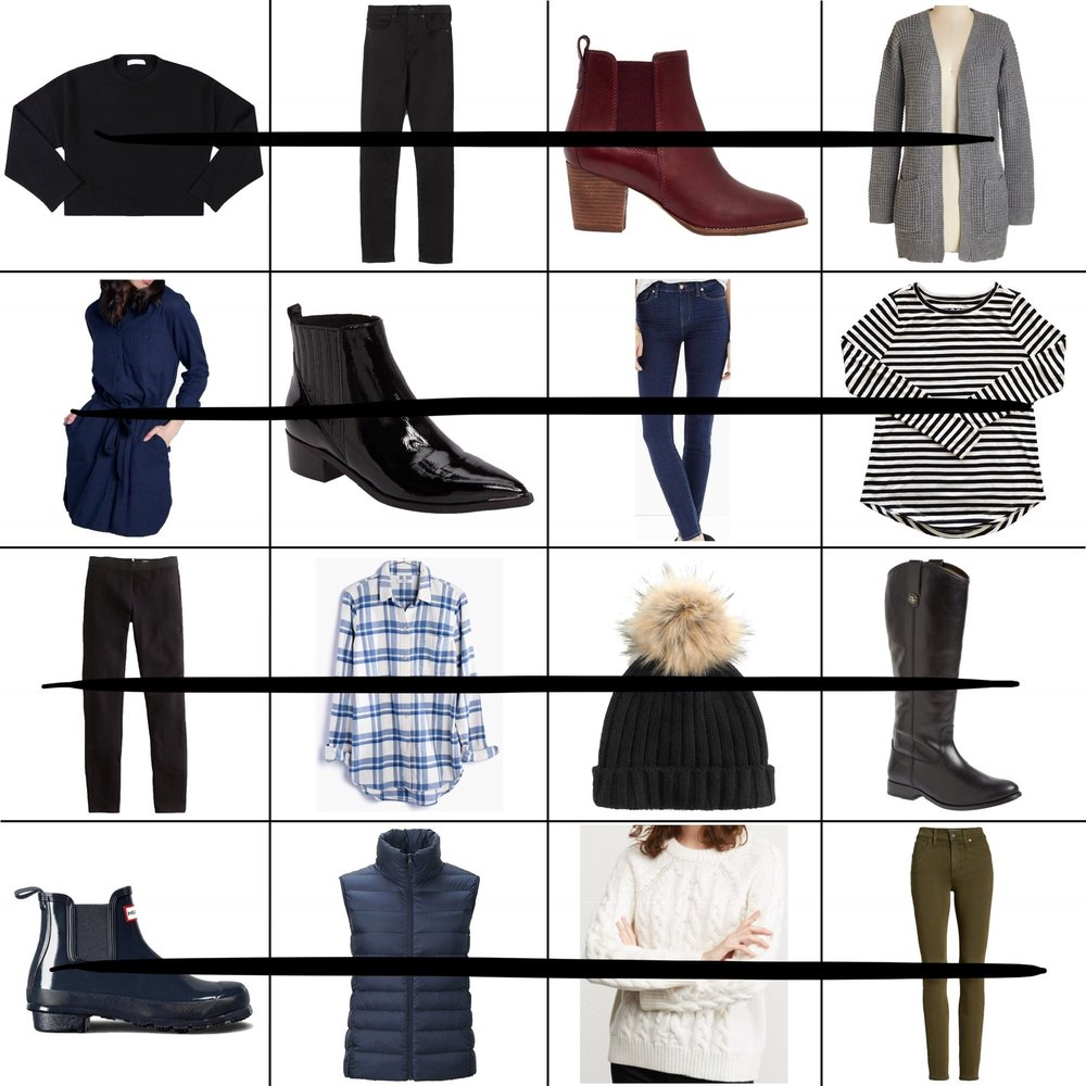 January Style Sudoku: 4 row outfits — Cotton Cashmere Cat Hair