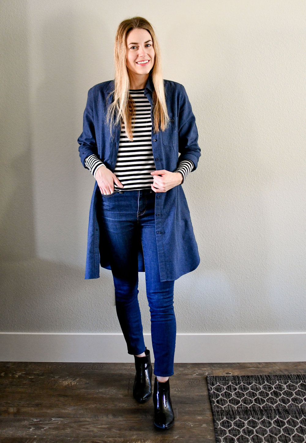 January Style Sudoku: row 2 outfit — Cotton Cashmere Cat Hair