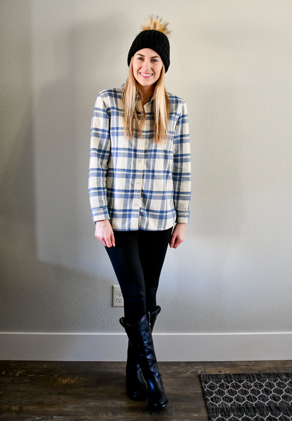 January Style Sudoku: row 3 outfit — Cotton Cashmere Cat Hair