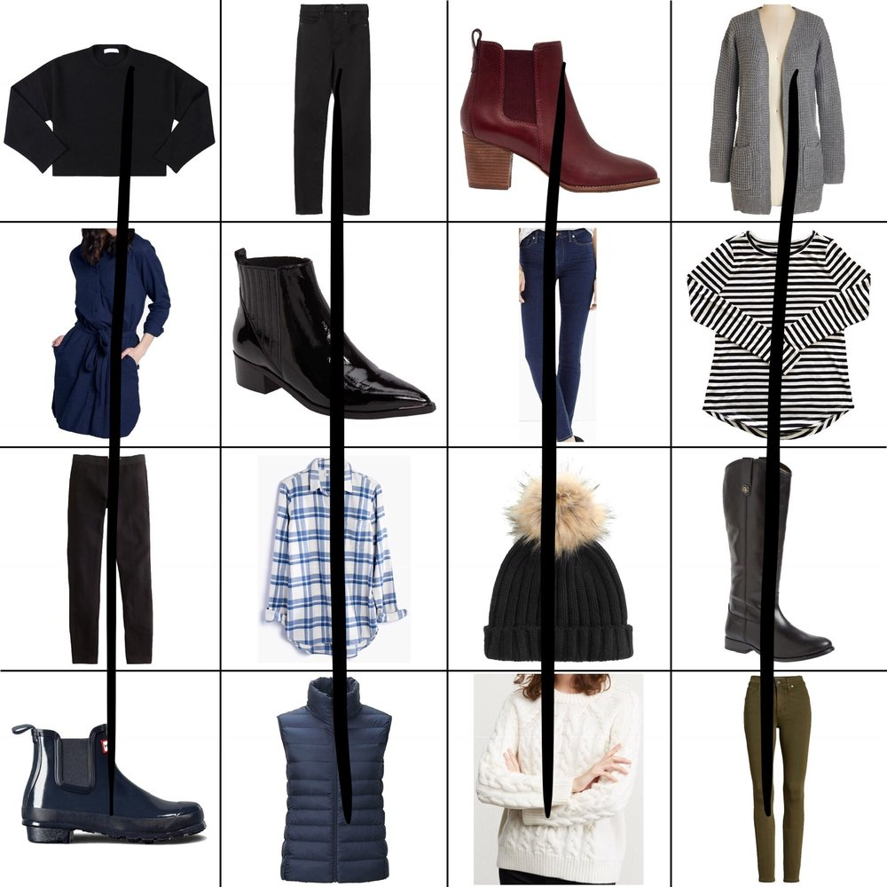January Style Sudoku: 4 column outfits — Cotton Cashmere Cat Hair