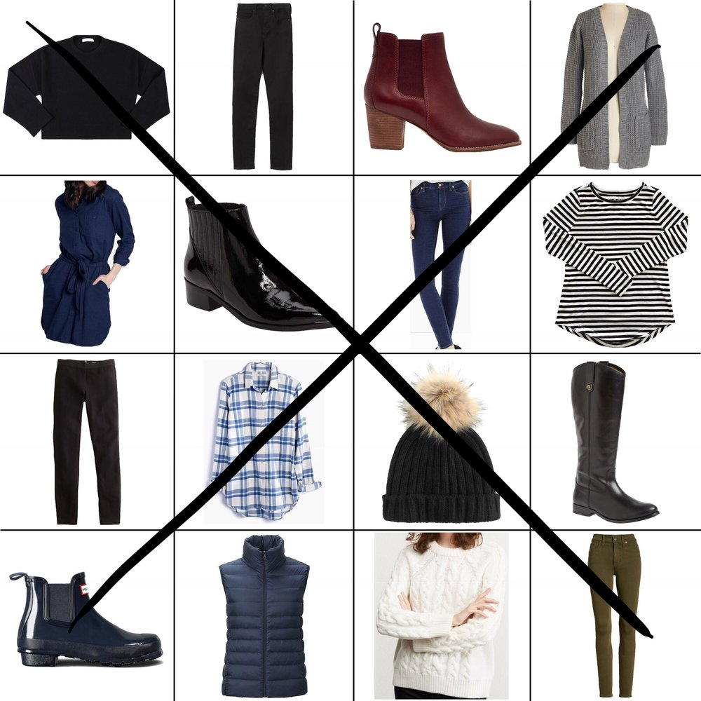 January Style Sudoku: 2 diagonal outfits — Cotton Cashmere Cat Hair