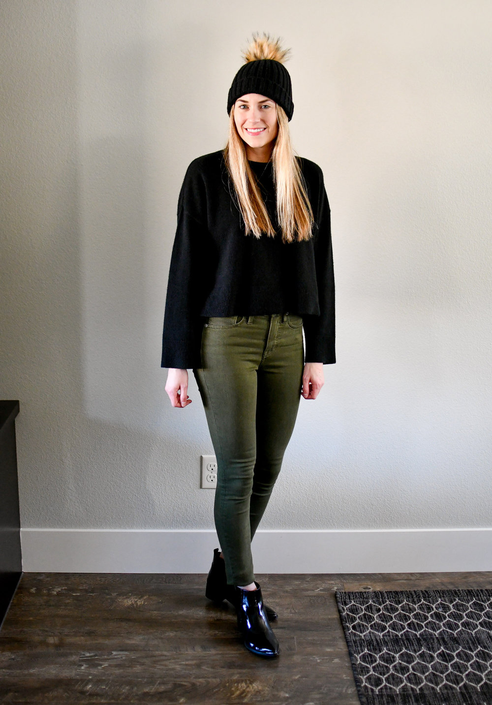 January Style Sudoku: diagonal 1 outfit — Cotton Cashmere Cat Hair