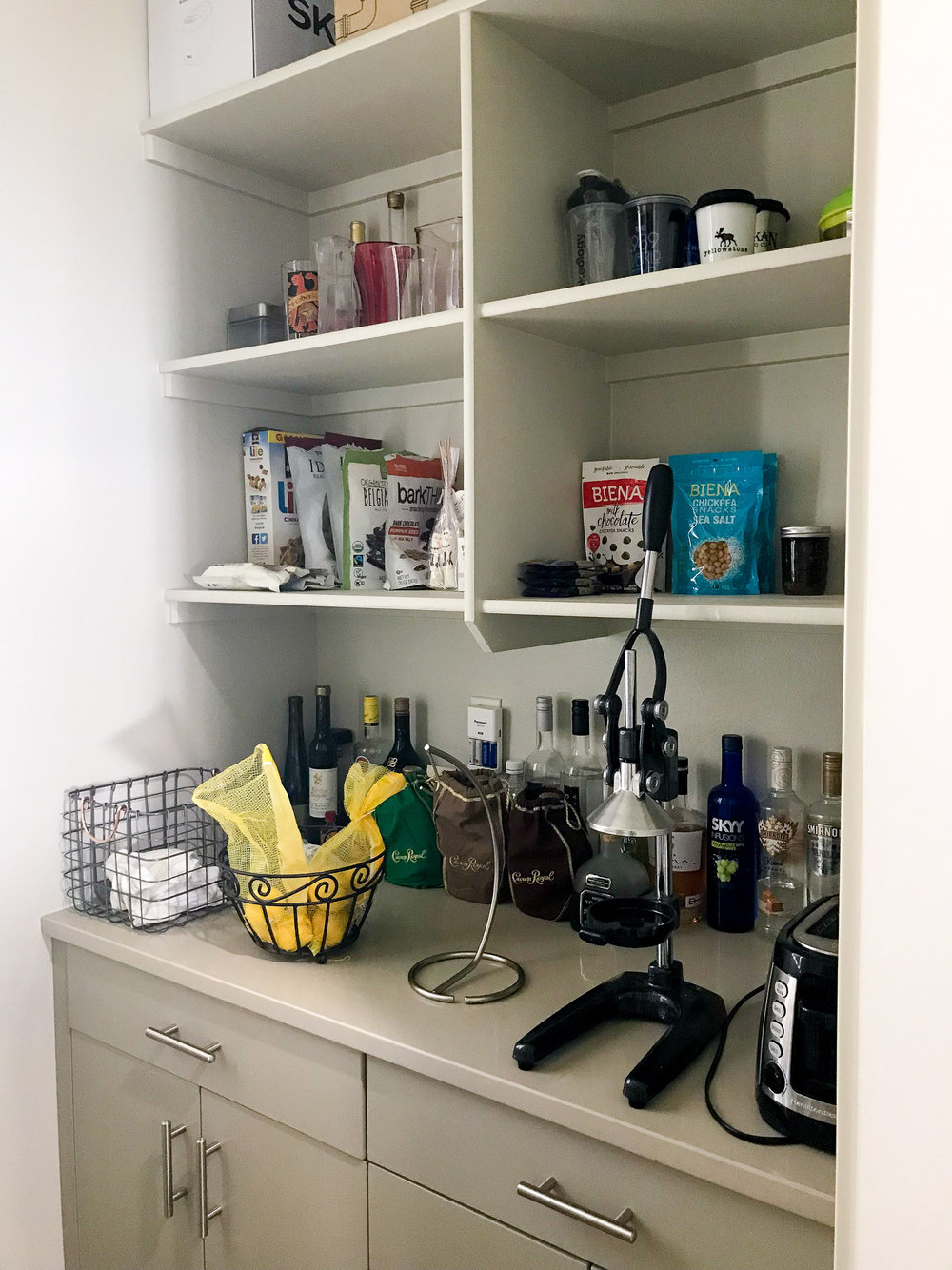 The January Cure: organized butler pantry — Cotton Cashmere Cat Hair