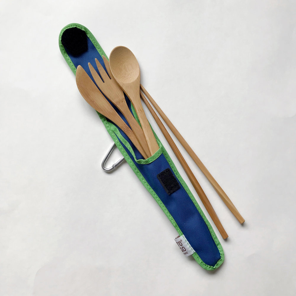 MightyFix To-Go Ware bamboo RePEaT utensil set — Cotton Cashmere Cat Hair