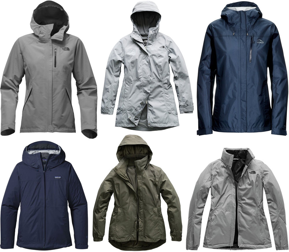 Practical spring rain jackets by The North Face, L.L.Bean, Patagonia — Cotton Cashmere Cat Hair