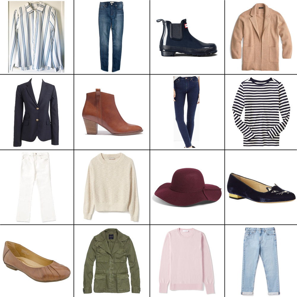 April Style Sudoku: 16 items, 14+ outfits — Cotton Cashmere Cat Hair