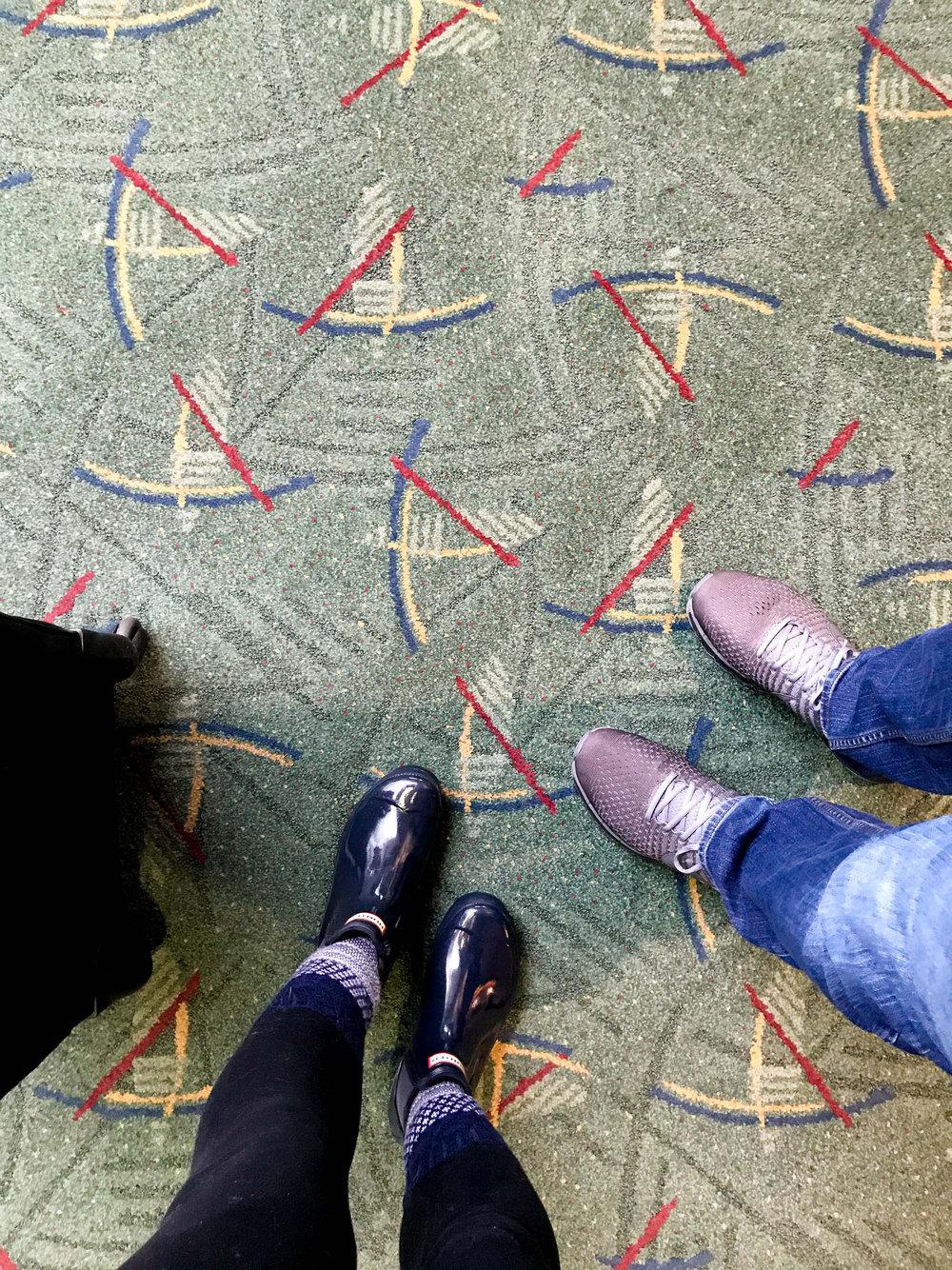 Iconic Portland Airport carpet — Cotton Cashmere Cat Hair