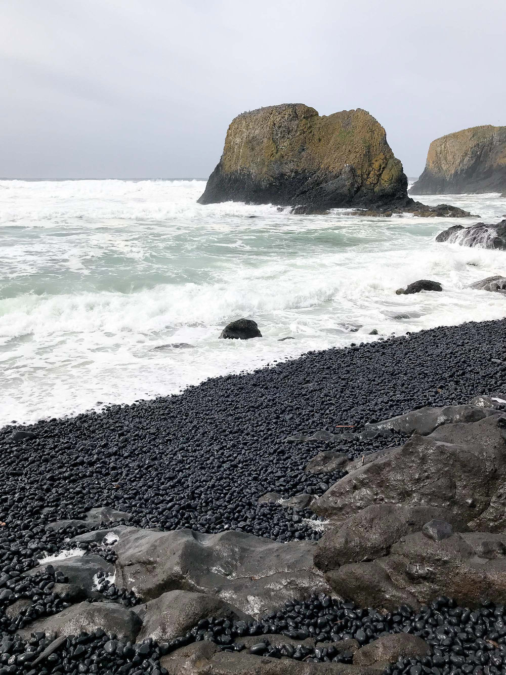 Cobble Beach at Yaquina Head Lighthouse — Cotton Cashmere Cat Hair