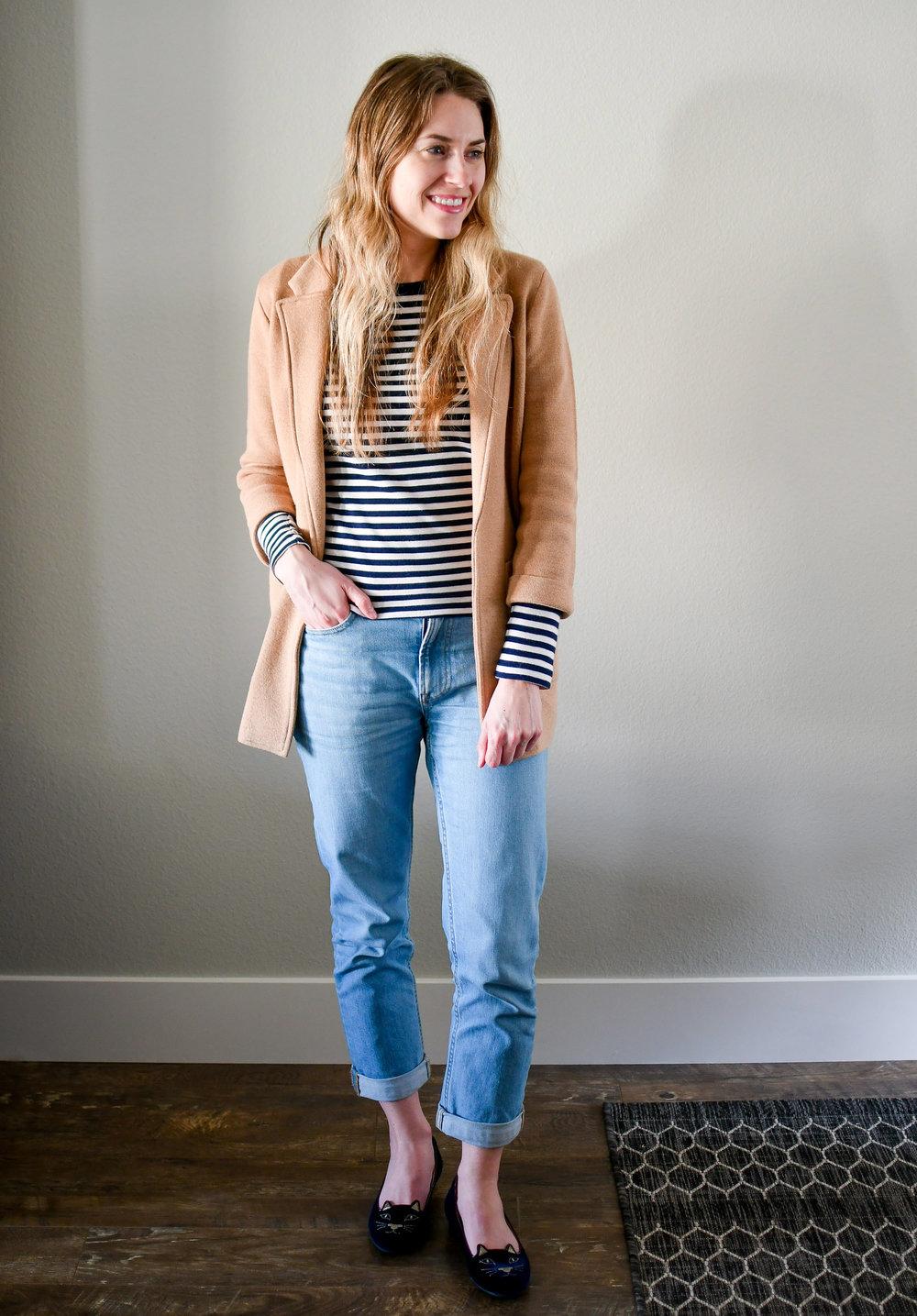 April Style Sudoku: Outfit 4 — Cotton Cashmere Cat Hair
