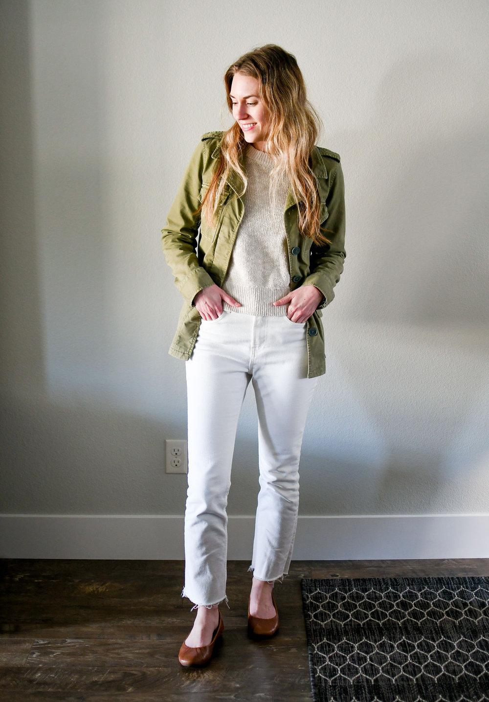 April Style Sudoku: Outfit 6 — Cotton Cashmere Cat Hair