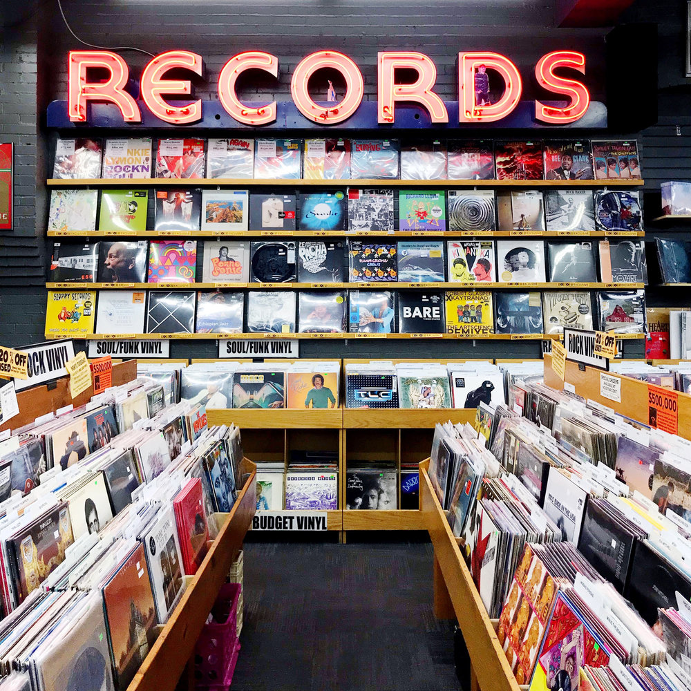 The Record Exchange, downtown Boise, Idaho — Cotton Cashmere Cat Hair