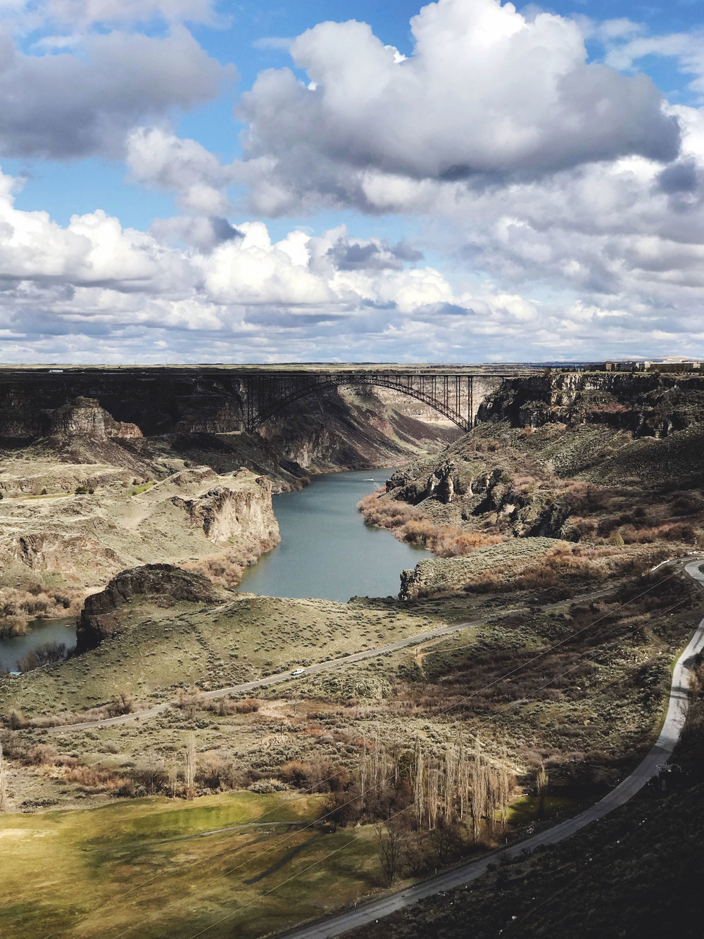 Perrine Bridge over the Snake River, Twin Falls, Idaho — Cotton Cashmere Cat Hair