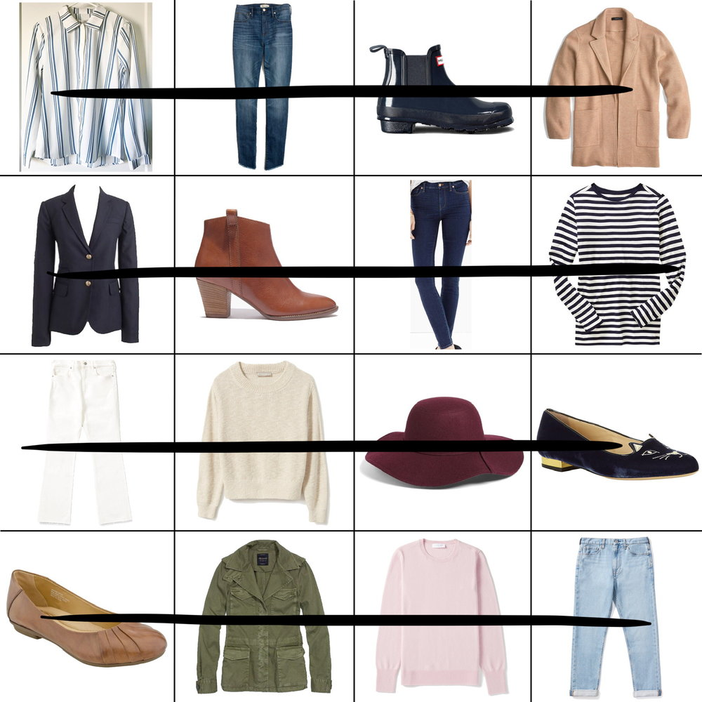 April Style Sudoku: 4 row outfits — Cotton Cashmere Cat Hair