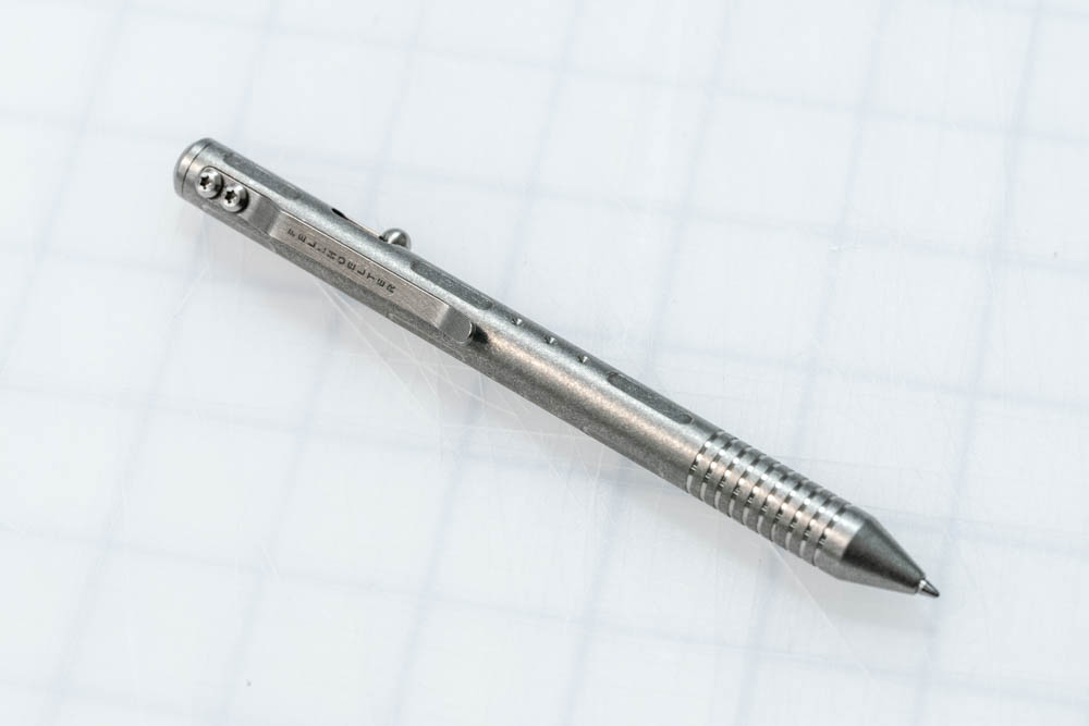 A gorgeous pen with a lot of potential that was made unusable for me by poor placement of the clip and thumb stud.