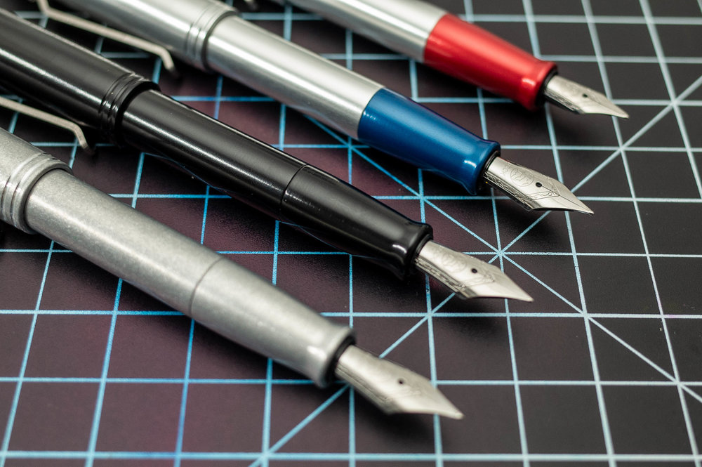 In sticking with past pens, Karas Pen Co. went with Bock nibs on the Starliner XL — a great choice as they're pretty reliable and are offered in Extra Fine, Fine, Medium and Broad.