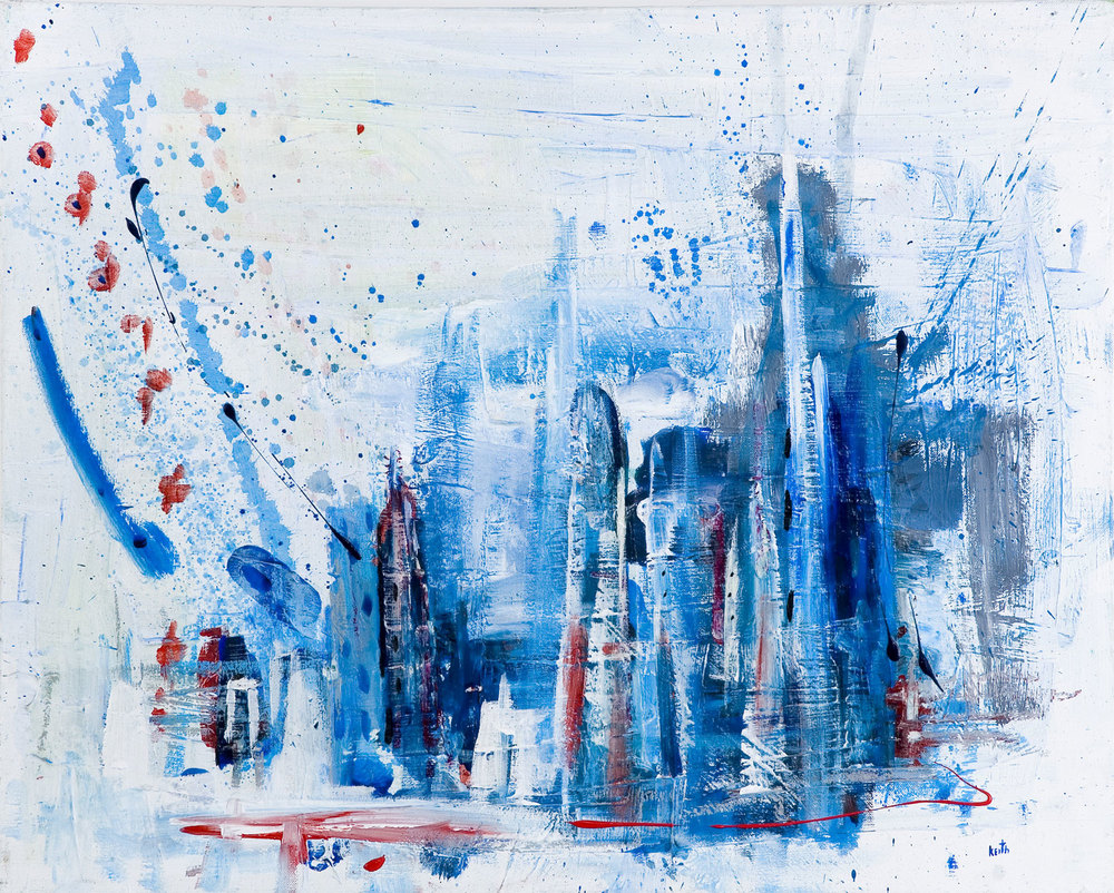 'new city too' 24 x 30″, acrylic on canvas SOLD