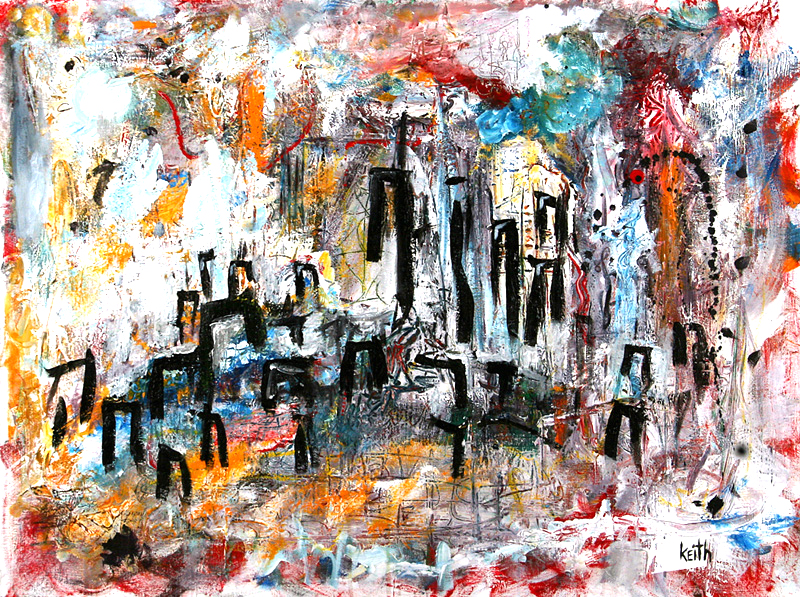 'new city .3' 30″ x 40″, acrylic on canvas SOLD