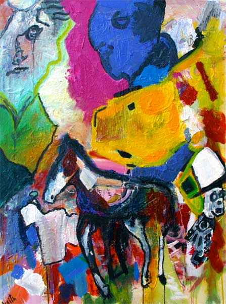 "'on carousels' 40 x 30"" acrylic on canvas SOLD"