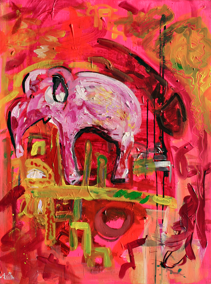 "'elephant in room' 40 x 30"", acrylic on canvas   AVAILABLE"