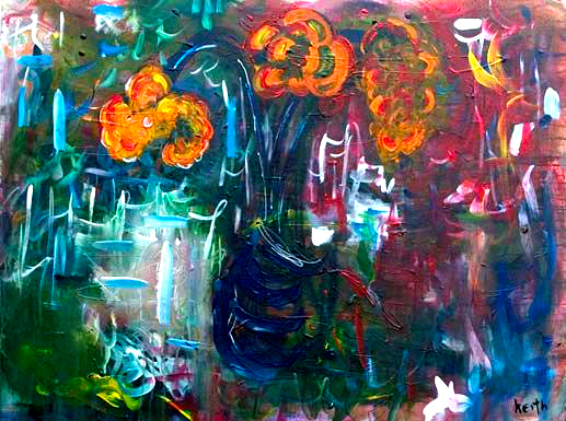 "'flower .2' 30 x 40"", acrylic on canvas  SOLD"